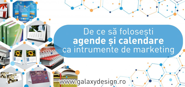 Agende si calendare instrumente de marketing Galaxy Design